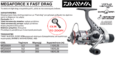 Εικόνα της DAIWA MEGAFORCE X FAST DRAG