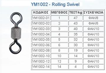 Εικόνα της Στριφτάρι ROLLING SWIVEL YM-1002