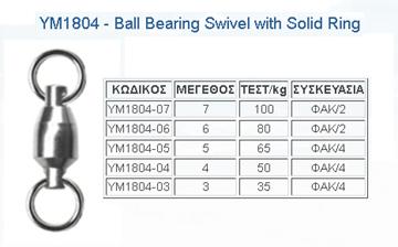 Εικόνα της Στριφτάρι BALL BEARING WITH SOLID RING YM-1804