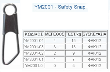 Picture of Παραμάνα TOP ONE SAFETY SNAP YM-2001