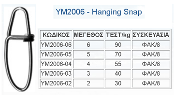 Picture of Παραμάνες TOP ONE HANGING SNAP Θ ΥΜ-2006