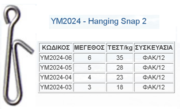 Picture of Παραμάνες TOP ONE HANGING SNAP  ΥΜ-2024