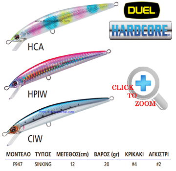 Picture of DUEL HARDCORE MINNOW 120S POWER F947