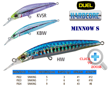 Picture of DUEL HARDCORE MINNOW S F923 7cm