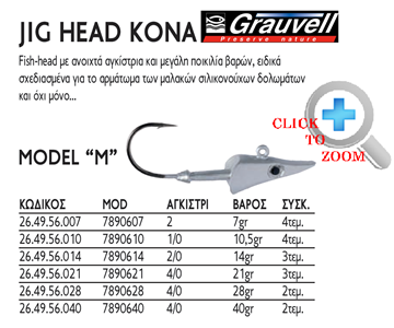 Picture of GRAUVELL JIG HEAD KONA MODEL ''M''