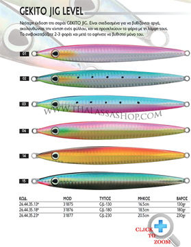Picture of ΠΛΑΝΟ OWNER GEKITO JIG LEVEL 130gr