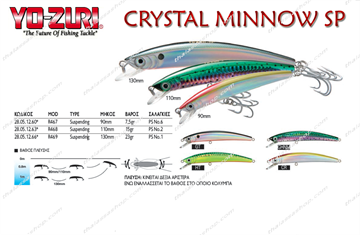 Εικόνα της Yo-Zuri CRYSTAL MINNOW SP R468 110mm