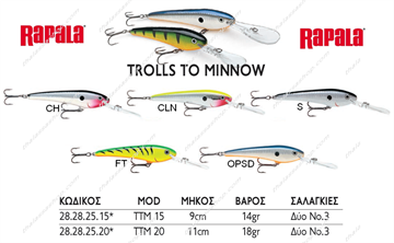 Picture of RAPALA TROLLS TO MINNOW TTM15