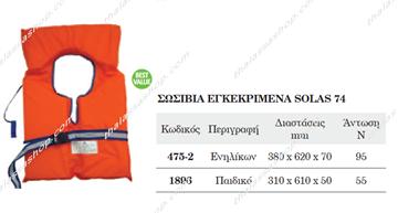 Picture of ΣΩΣΙΒΙΟ ΕΝΗΛΙΚΩΝ ΕΓΚΕΚΡΙΜΕΝΑ SOLAS 00475
