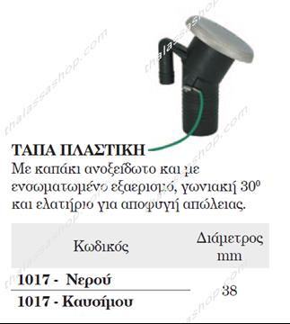 Picture of ΤΑΠΑ ΠΛΑΣΤΙΚΗ ΚΑΥΣΙΜΟΥ ΜΕ ΕΞΑΕΡΙΣΜΟ