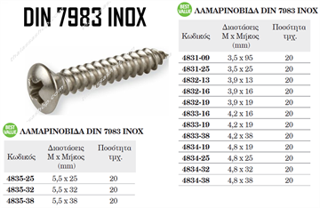 Picture of ΛΑΜΑΡΙΝΟΒΙΔΑ  DIN 7983 INOX