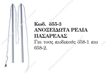 Picture of ΑΝΟΞΕΙΔΩΤΑ ΡΕΛΙΑ ΠΑΣΑΡΕΛΑΣ 00655-3