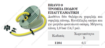Picture of ΤΡΟΜΠΑ ΠΟΔΙΟΥ 800 MBAR 01184