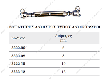 Picture of ΕΝΤΑΤΗΡΕΣ ΑΝΟΙΧΤΟΥ ΤΥΠΟΥ INOX