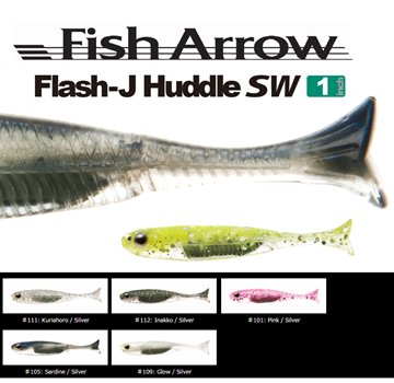Picture of FISH ARROW FLASH-J HUDDLE 1""