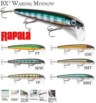 Picture of ΨΑΡΑΚΙ RAPALA BX WALKING MINNOW (BXMW13)