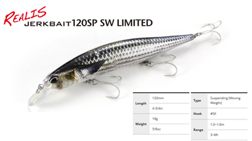Εικόνα της ΨΑΡΑΚΙ DUO REALIS JERKBAIT 120SP SW LIMITED