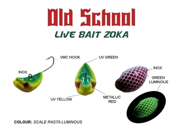 Picture of OLD SCHOOL ZOKA SCALE RASTA GREEN