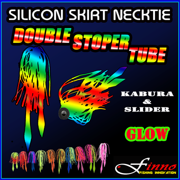 Εικόνα της FINNO SILICON SKIRTS NECKTIE GLOW DOUBLE STOPPER