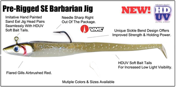 "Picture of HOGY SE BARBARIAN 8"" JIG HDUV  PADDLE TAIL 112gr"