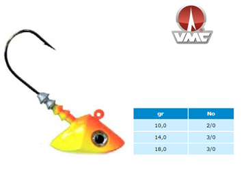 Εικόνα της VMC JIG HEAD 450 ORANGE/YELLOW