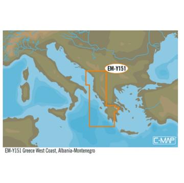 Εικόνα της LOWRANCE C-MAP MAX-N+L ΙΟΝΙΟ (GREECE WST ALBNA-MNTNGRO) EM-Y151.39