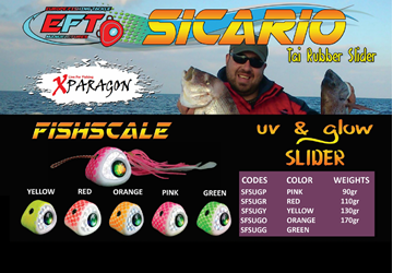 Picture of X-PARAGON SICARIO FISHSCALE UV GLOW SLIDER 110gr