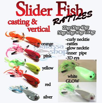 Picture of SLIDER FISH RATTLES 100gr
