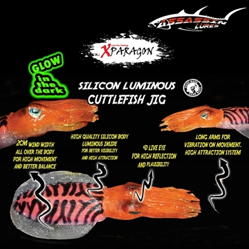 Picture of X-PARAGON ASSASIN LURE CUTTLEFISH JIG 16.5cm / 100gr
