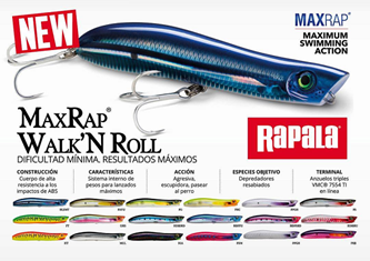 Picture for category RAPALA MAX RAP WALK'N ROLL MXRWR13