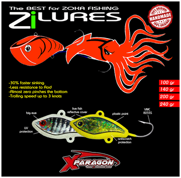 Picture of X-PARAGON  Zi LURES 240gr