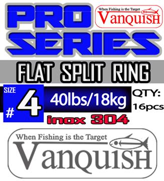 Εικόνα της VANQUISH SPLIT RINGS INOX 4 - 7.5mm